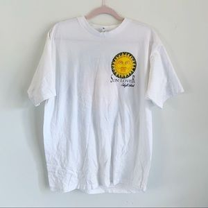 Vintage White Jekyll Island Georgia Sun T-Shirt XL